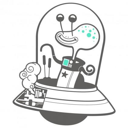 vinilos infantiles espacio universo monos alien extraterrestre