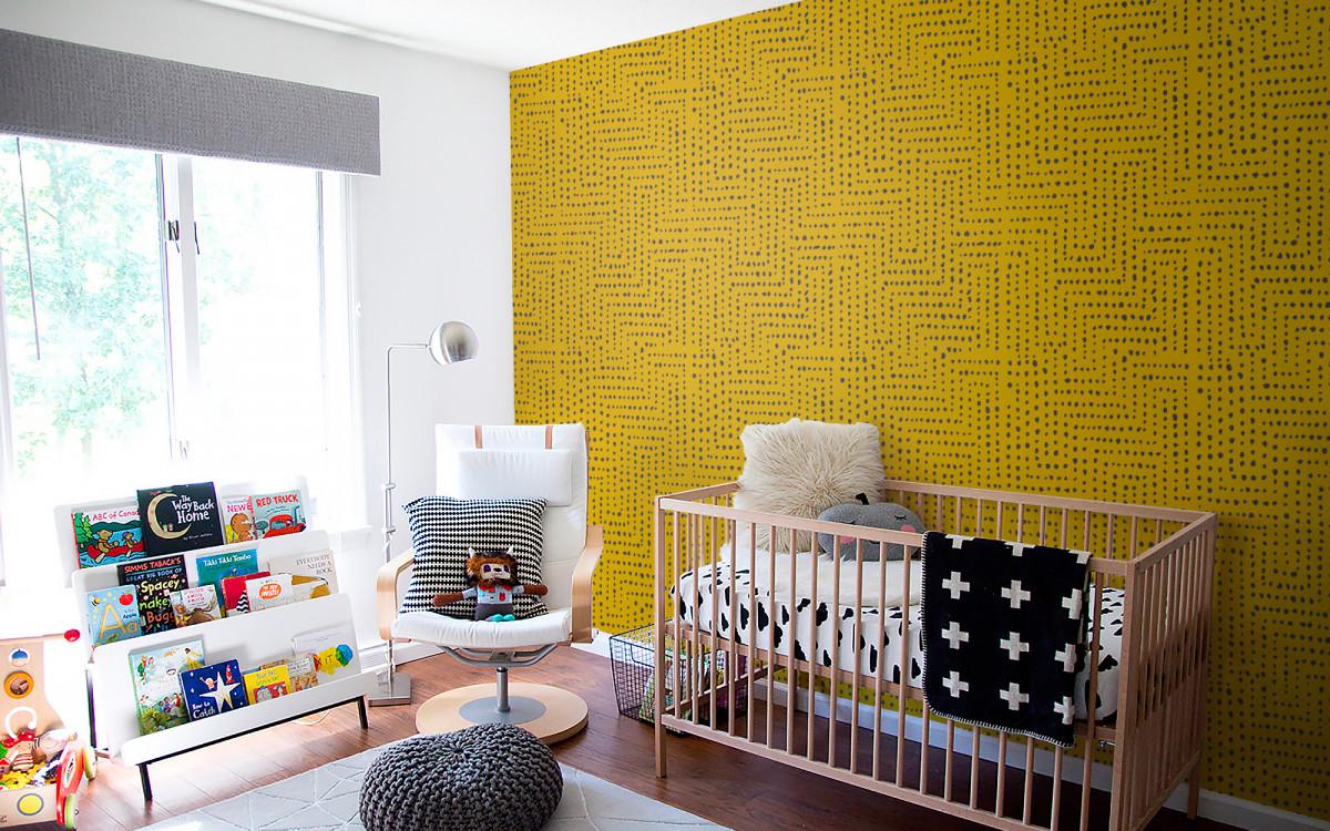 african pattern wallpaper grey