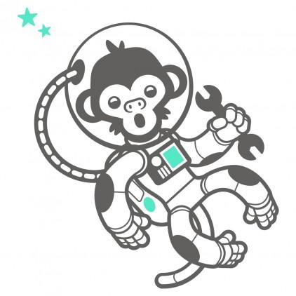 stickers enfant singes espace univers astronaute