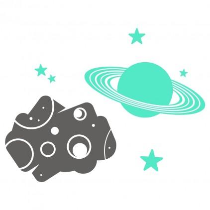 asteroide & planeta