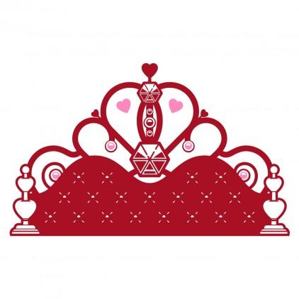 stickers enfant fille chambre princesse tête de lit
