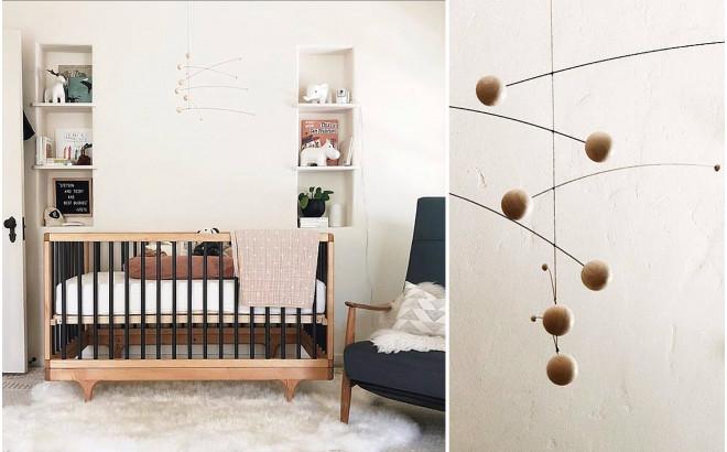 mobile bébé Futura Nature Flensted pour décoration chambre bébé et enfant