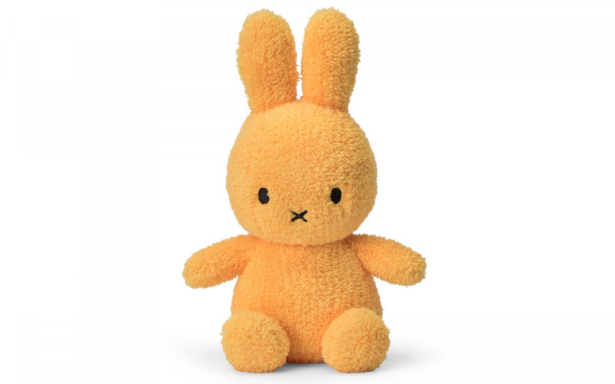 lapin Miffy velours extra doux jaune