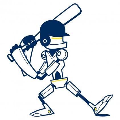 stickers enfant garçon robot sport batteur