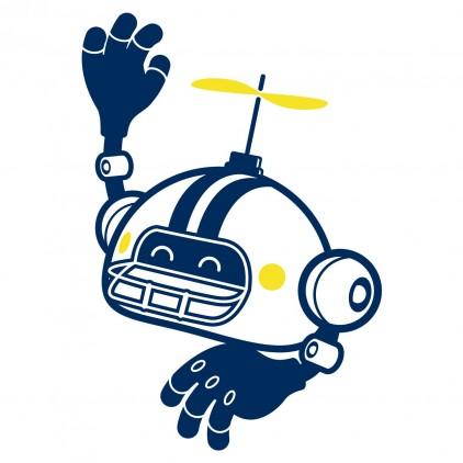 vinilos infantiles cama niño robot deporte futbolista US 2