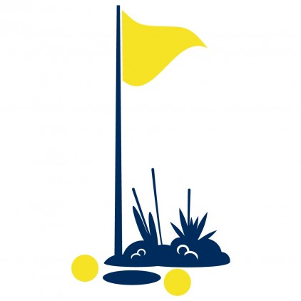 vinilos infantiles cama niño robot deporte hoyo de golf