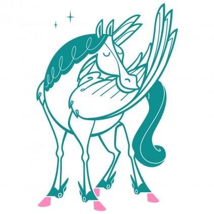 pegasus unicorn fairy world kids wall decals