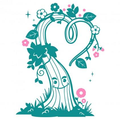 stickers enfant monde féérique arbre d'amour