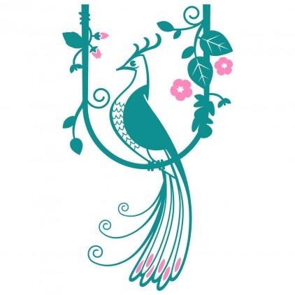 stickers enfant monde féérique oiseau de Paradis