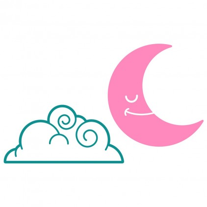 cloud and moon fairy world kids wall decals