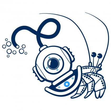 hermit crab underwater world kids wall decals