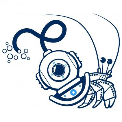 stickers enfant fonds marins bernard l'hermite