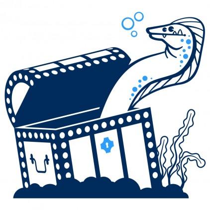 stickers enfant fonds marins murène