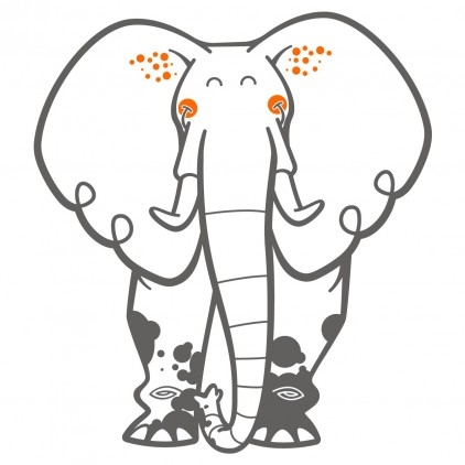 elephant kids wall decals