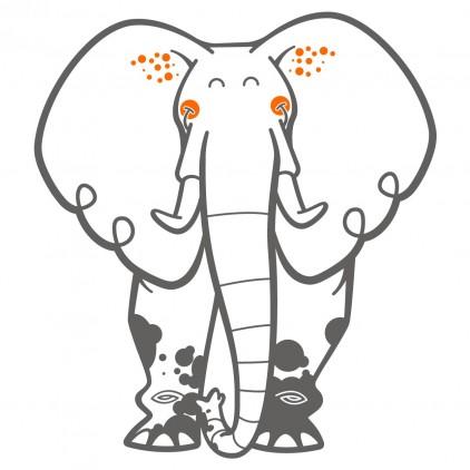 vinilos infantiles elefante