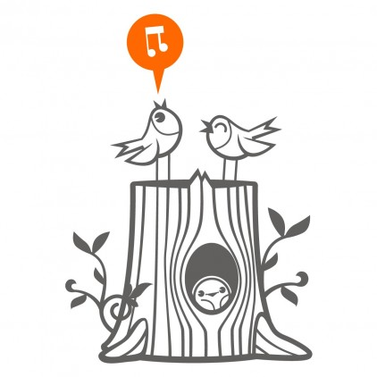 vinilos infantiles familia pájaros
