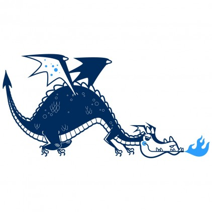 stickers enfant chevaliers dragon