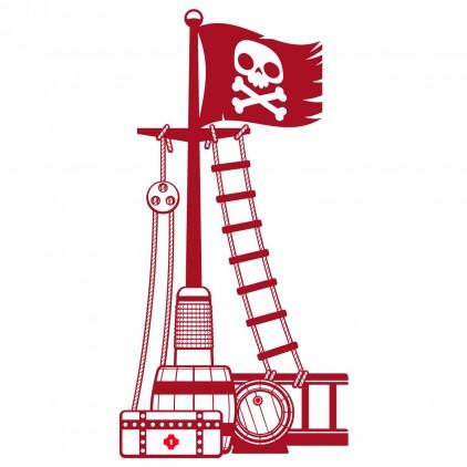corsair sailor pirate ship mast boy kids wall decals