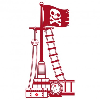 stickers enfant garçon mât pirate corsaire marin