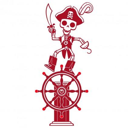 stickers enfant garçon capitaine pirate corsaire marin