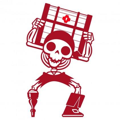 vinilos infantiles cama niño pirata corsario marinero