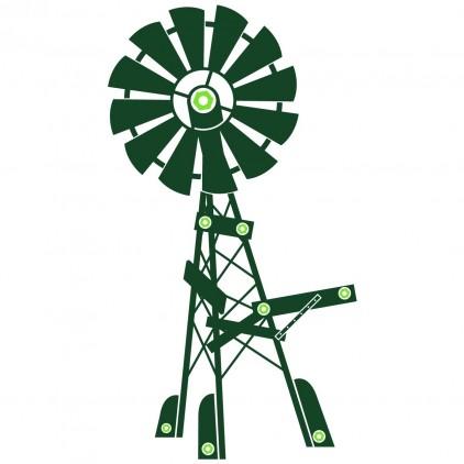stickers enfant animaux ferme éolienne