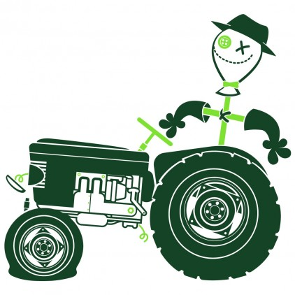 tractor farm animals kids wall decals