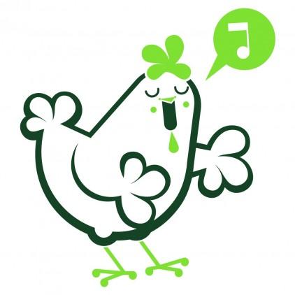 vinilos infantiles animales granja gallina