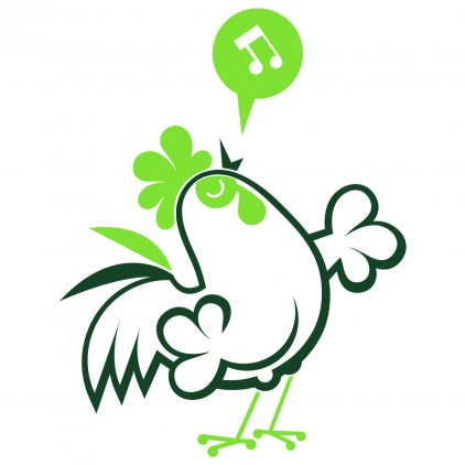stickers enfant animaux ferme coq