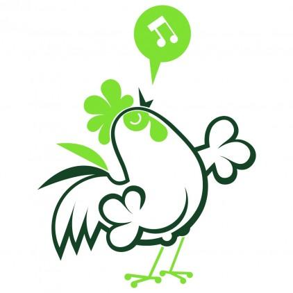 vinilos infantiles animales granja gallo