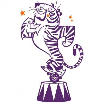 vinilos infantiles animales de circo tigre