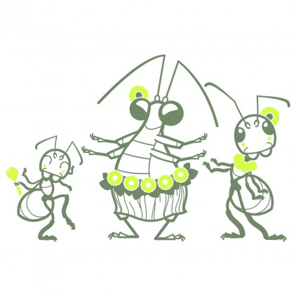 tahitian ants nature garden insects kids wall decals
