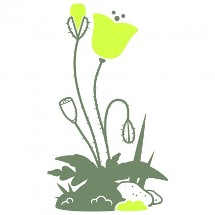 vinilos infantiles insectos naturaleza jardín amapola