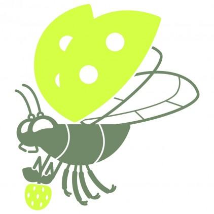 stickers enfant insectes nature jardin maman coccinelle