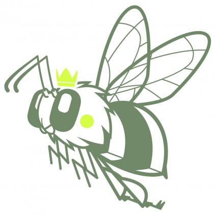 stickers enfant insectes nature jardin reine abeille