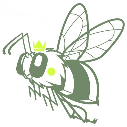 vinilos infantiles insectos naturaleza jardín reina abeja
