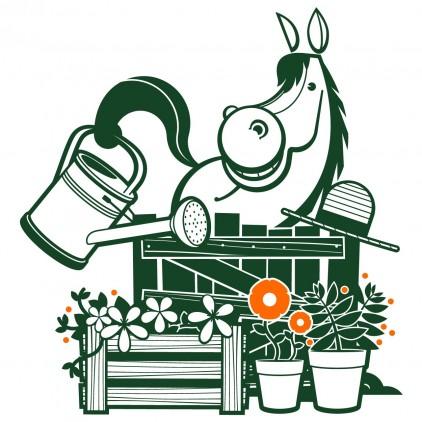 vinilos infantiles naturaleza animales campo caballo