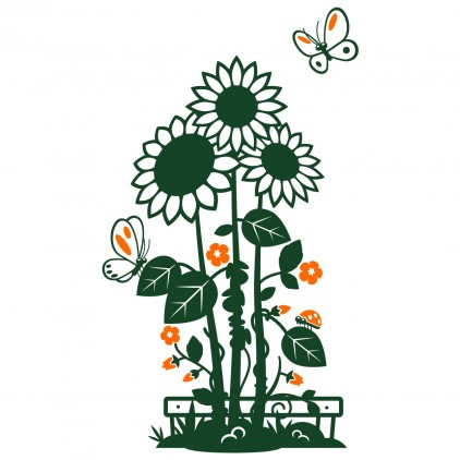 sunflowers nature country animals kids wall decals
