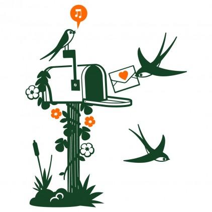 stickers enfant nature animaux campagne boîte aux lettres