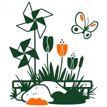 stickers enfant nature animaux campagne éoliennes