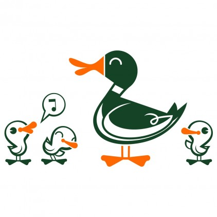 stickers enfant nature animaux campagne canards
