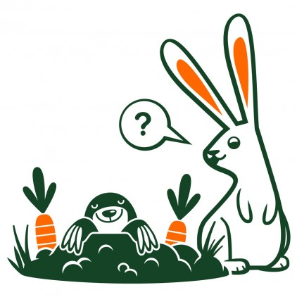 rabbit mole nature country animals kids wall decals