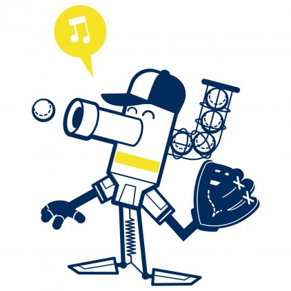 stickers enfant garçon robot sport lanceur