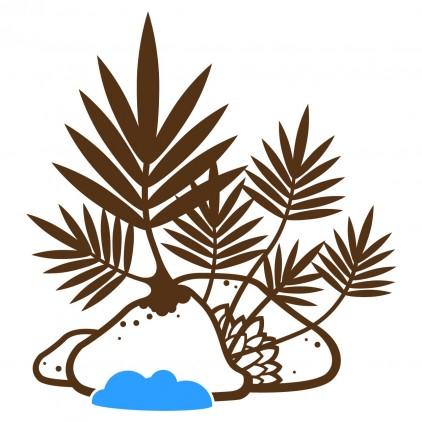 stickers enfant jungle forêt tropicale plante