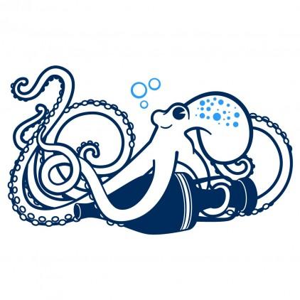 vinilo infantil mundo submarino pulpo