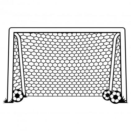 xl football goal post sport kids wall decal