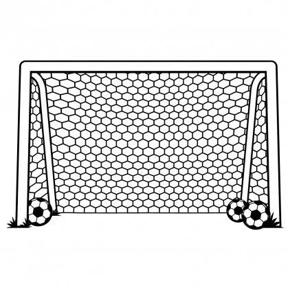 sticker enfant football sport cage de foot xl