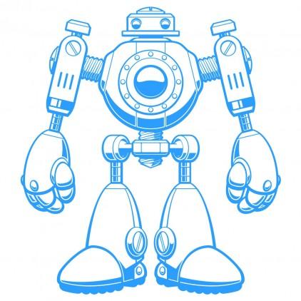 xl robot kids wall decal