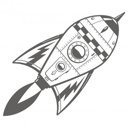 xl outer space rockets kids wall decal