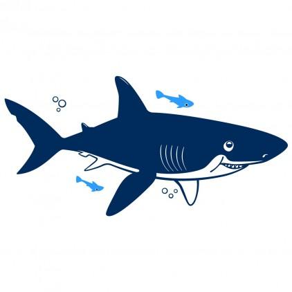 vinilo infantil mundo submarino tiburón XL